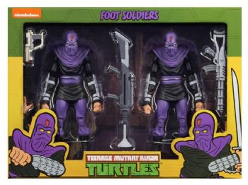 NECA Teenage Mutant Ninja Turtles Cartoon Series 2 Foot Soldier Figure 2 Pack